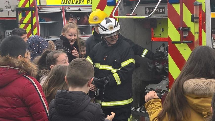 Dublin Fire Brigade Visit St. Philip's