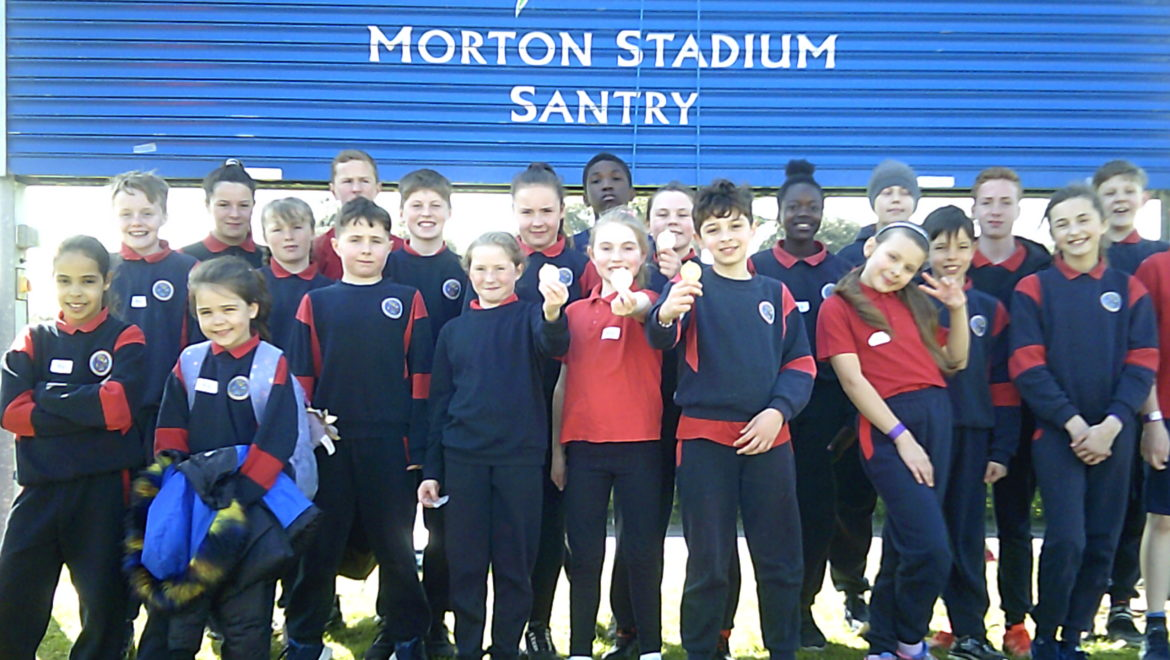 Athletics Team at Morton Stadium 2019