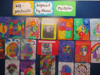 3rd Class work inspired by Henri Matisse