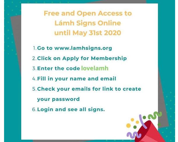 Free Lámhsigns